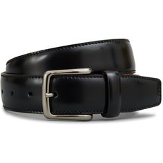 Tod's - Leather Belt ($325) ❤ liked on Polyvore featuring men's fashion, men's accessories, men's belts, black and leather belt