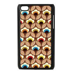 Orla Kiely chocolate flower Multi stem apple ipod 4 4g Touch case, $16.89