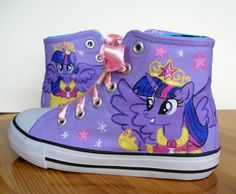 eec39a3a20a01f Hand painted Children My Little Pony shoes