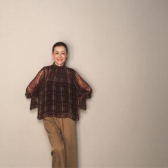 桐島かれんさんはInstagramを利用しています:「雑誌「エクラ」の撮影。ハウスオブロータスの秋物を着ました。 #ハウスオブロータス #エクラ #houseoflotus」