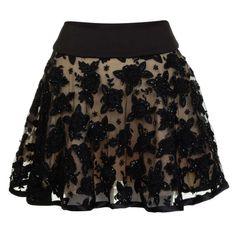 PRODIGA Flower Beaded Skirt  http://www.flannels.com/prodiga-flower-beaded-skirt-575254