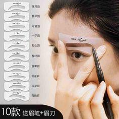 #taobao just hauled this off taobao, 10 brow stencils + brow razor + brow pencil = 4SGD