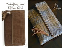 DIY Michael Kors Fold-Over Clutch! With step-by-step picture tutorial!