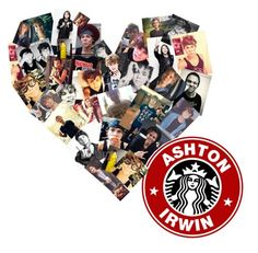 """Ashton Irwin."" by fernanda-lied ❤ liked on Polyvore featuring art"