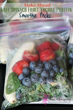 Make Ahead Smoothie Freezer Bags