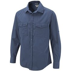 Men's Craghoppers Long Sleeve Travel Trekker Shirt- Sun Protective UPF40+ - Faded Indigo - 38 Avana