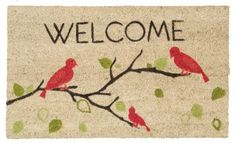 Now Designs Welcome Doormat by Now Designs. $25.99. Lower pile means doormat fits neatly under swinging screens and doors. Doormat measures 18-inch wide and 30-inch long. Adds a touch of practical decor to your apartment, condo or home entry. Design printed in fade-resistant ink. Made of coconut fibers with a vinyl backing for durability. Welcome the world to your door with this 18 by 30-Inch vinyl backed coconut fiber doormat. The doormat boasts a low profile to fi...