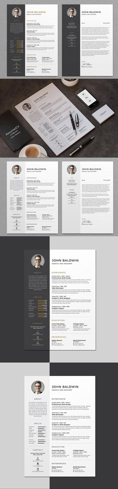 Resume/CV #work #PaperDesign #cvtemplateword #blackresume #editable #clean #grey #PaperDesign #bright #cvtemplate #ResumeHelp #CV #stationery #ResumeTemplateDesign #usletter #minimalresume #word #cvdesign #msword