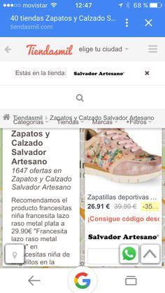 Salvador artesano en el directorio de zapatos con tiendasmil