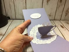 Pop Up Tea Cup Card using Stampin Up A Nice Cuppa stamp set.