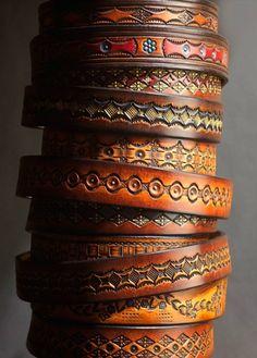Handmade leather braclets