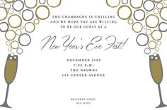 Flashy Toast Invitation Holiday Party Invitations, Throw A Party, Address Labels, Holiday Parties, Party Planning, Toast, Stress, Seasons, Seasons Of The Year