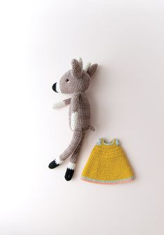 HOME / CROCHET / ELENA DEER22 July 2018ELENA DEERMeet one of our new mythical friends. Her name is Elena Deer. Goddess of fertility. Get your hooks out ladies and gents!Purchase your copy of Issue 6 for the pattern of Elena's cousin, Crispin Rabbit, aka the bringer of luck.Pattern byYan Schenkel (Pica Pau)PREPARATIONSYARNSDK or light worsted weight cotton, Mink Brown, 120gDK or light worsted weight cotton, Mustard Yellow, 30gDK or light worsted weight cotton, Off-White, 20gDK o