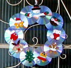 GG ARTES: Christmas wreath with CD'S ...