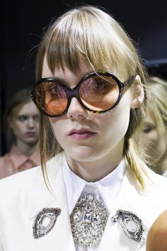 The EYEs Trend for SS 2016. Eyes embellishment details at Rochas Spring Summer 2016.