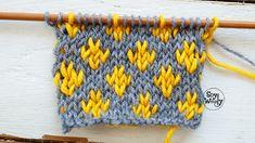 Tejer Fair Isle o Jacquard en dos agujas tricot calceta