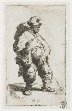 Waterende man, Rembrandt Harmensz. van Rijn, 1631