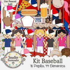 Kit Baseball, Kit Beisebol, Beisebol, Home Run, Jersey, Camisa, Base, Major League Baseball, Pizza, Chopp, Hot Dog, Boné, Cap, Menino, Menina, Boy, Girl, Entrada, Ticket, Bandeira, Flag, MLB, Capacetes, Tacos, Luvas, Bolas, Helmets, Balls, Clubs, Gloves, Esportes, Sports, Base, Jogador, Player, Jogo, Game, Time, Team, Corte Regular, Regular Cut, Silhouette, DXF, SVG, PNG