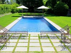 After: Backyard Oasis - A Basic Backyard Gets a Posh Pool Makeover on HGTV