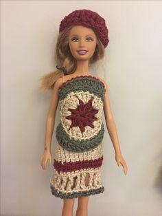 Vestidinho de croche Barbie