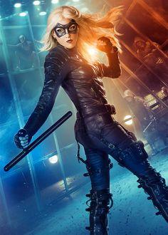 New Katie Cassidy Black Canary Arrow Poster