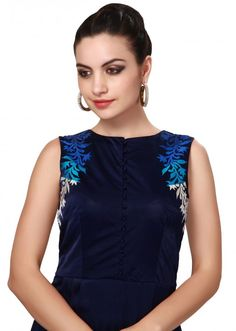Shaded long kurti adorn in resham embroidery only on Kalki