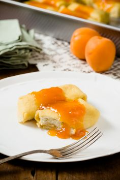 Cheese Blintzes With Apricot Lemon Quick Jam - from Cupcake Project