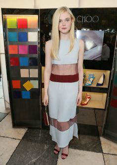 Elle Fanning in Wes Gordon