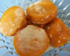 Thai Dessert: Mun Chuem (Sweet Potatoes and Coconut Cream)