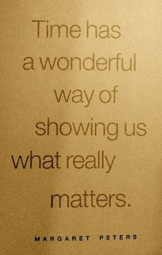 ...and WHO really matters.