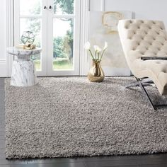 Shop for Safavieh Athens Shag Light Grey Area Rug (5'1 x 7'6). Get free shipping at Overstock.com - Your Online Home Decor Outlet Store! Get 5% in rewards with Club O! - 16690028