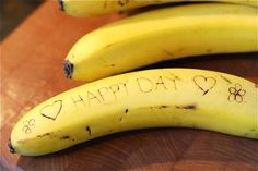 Write banana messages to your kids!