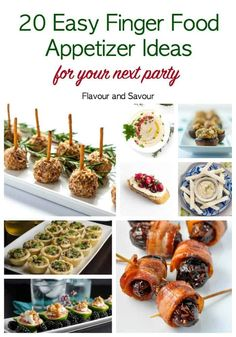 Planning a happy hour with friends, a formal dinner or a full-scale bash? This round up of recipes for 20 Easy Finger Food Appetizers will give you lots of ideas. #fingerfoods #holidayappetizers #partyfood #appetizerideas #easy #fingerfoodrecipes Fall Appetizers, Gluten Free Appetizers, Finger Food Appetizers, Easy Appetizer Recipes, Appetizer Ideas, Healthy Sugar Cookies, Family Fresh Meals, Easy Banana Bread, Party Finger Foods