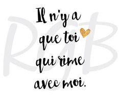 Declaration of Love Love Declaration, Citation Pinterest, Quotes Francais, Image Theme, Sign Printing, School Gifts, New Love, Positive Attitude, Digital Image
