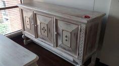 """Restauracion de muebles, acabado """"wash"""" blanco, decoracion vintage"""