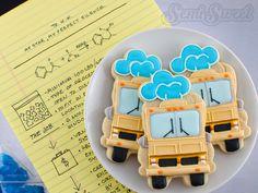 Here's a fun tutorial on making Breaking Bad RV cookies by Semi Sweet Designs. #BreakingBad #decoratedcookies