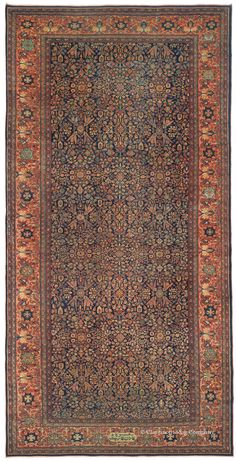 The history and art of collectable antique Ferahan and Ferahan Sarouk Rugs, antique Persian Carpets from the Claremont Rug Company.
