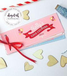 Personalised Love Coupons FOR HER