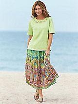 Multi-Print Skirt Set   Orchard Brands
