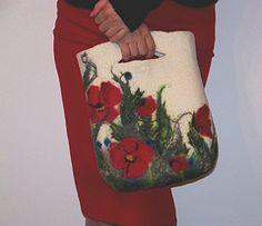 Wool Felt Bags-Handmade Purse  want to try wet felting soon