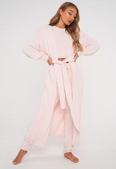 Pink Popcorn Knit Maxi Cardigan | Missguided Maxi Cardigan, Long Cardigan, Pink Popcorn, Loungewear, Missguided, Knitwear, Sweaters For Women, Knitting, Clothes