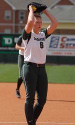 Michigan State softball fell to No. 12 Michigan in a doubleheader on Sunday at Secchia Stadium.  The Spartans were defeated in game one, 11-2, and suffered a heartbreaker loss in game two, 8-7, in extra innings.