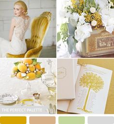 Looking for your wedding color palette? The Perfect Palette wants to help! The Perfect Palette is dedicated to helping you see the many ways you can use color to bring your wedding to life. Sage Wedding, Our Wedding, Wedding Yellow, Wedding 2015, Dream Wedding, Mustard Wedding Colors, Color Inspiration, Wedding Inspiration, Wedding Ideas