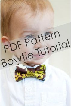 Boy Bow Tie Pattern  PDF Pattern  Tutorial  by littlegentleman, $8.00