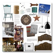 """Winter Cabin"" by pippi-loves-music ❤ liked on Polyvore featuring interior, interiors, interior design, home, home decor, interior decorating, fferrone design, Foscarini, Rustic Arrow and Pendleton"