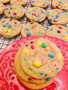 M&M pudding cookies // kathryns_kitchen