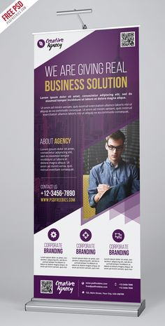 Retractable Banner Template Psd Inspirational Free Psd Creative Agency Roll Up Banner Psd Template On Pop Up Banner, Free Banner, Banner Template, Rollup Design, Rollup Banner Design, Standing Banner Design, Magazine Ideas, Standee Design, Banner Design Inspiration