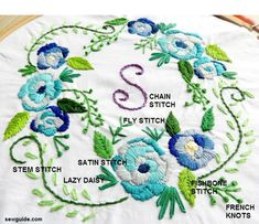 Learn how to make embroidery flowers in different types in this detailed tutorial with step by step instructions.
