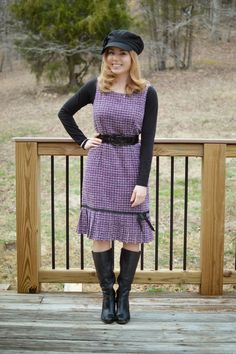 Fresh Modesty: Purple + Black