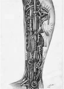 biomechanical leg sleeve tattoo - Google Search